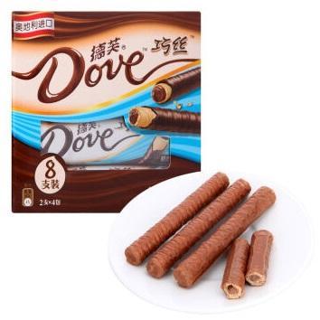 放心零食之巧克力威化  德芙Dove巧丝轻柔夹心威化巧克力