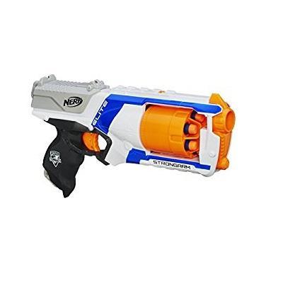 男孩玩具之泡沫子弹枪:正版孩之宝NERF气动玩具枪